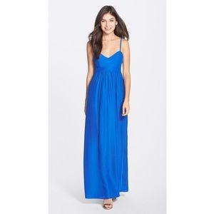 Felicity & coco blue maxi dress size small